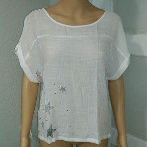 Tops - Sheer white blouse